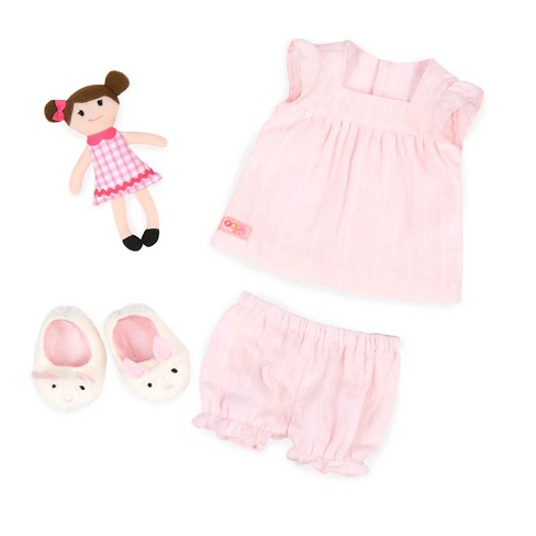 """Our Generation Pajama Outfit with Plush for 18"""" Dolls - Pajamarama - Pink - image 1 of 3"""