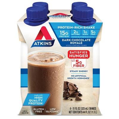 Atkins Royale Shake - Dark Chocolate  - 4ct