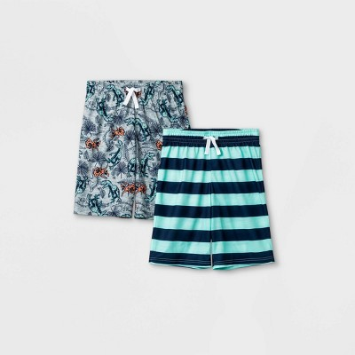 Boys' 2pk Striped & Dinosaur Print Pajama Set - Cat & Jack™ Green