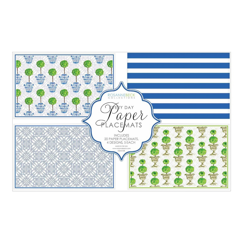 Topiaries Disposable Placemats