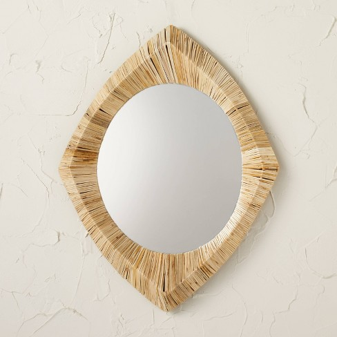 """18"""" x 24"""" Rattan Wrapped Wall Mirror - Opalhouse™ designed with Jungalow™ - image 1 of 4"""