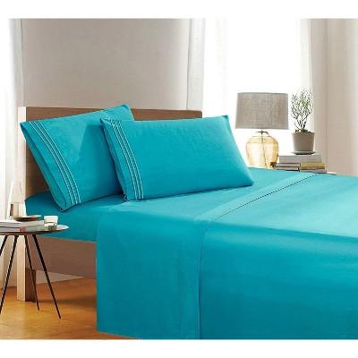 Elegant Comfort Luxury Ultra Soft 4-Piece Solid Wrinkle Free Deep-Pocket Bed Sheet Set.