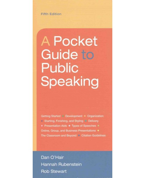 Pocket Guide to Public Speaking 5e & Launchpad Six Month Access (Paperback) (Dan O'Hair) - image 1 of 1