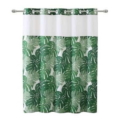 Palm Leaf Shower Curtain With Peva