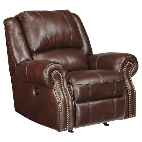 Collinsville Power Rocker Recliner Chestnut - Signature Design by Ashley - image 1 of 3