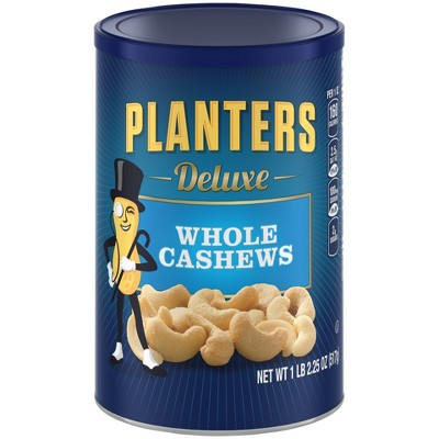 Nuts & Seeds: Planters Deluxe Whole Cashews