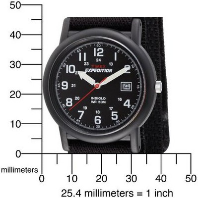 Men's Timex Expedition Camper Watch with Fast Wrap Nylon Strap - Black T40011JT, Size: Small