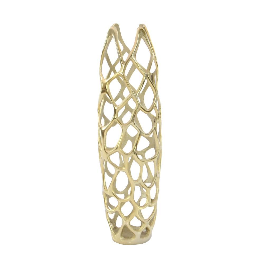 Image of Ornate Vase - Gold - Olivia & May
