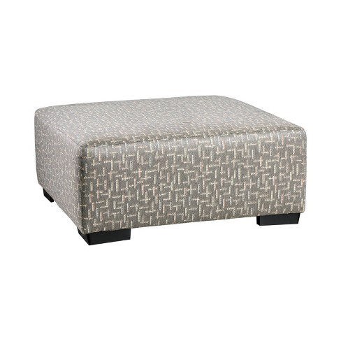 Deming Square Ottoman Gray - HOMES: Inside + Out - image 1 of 3
