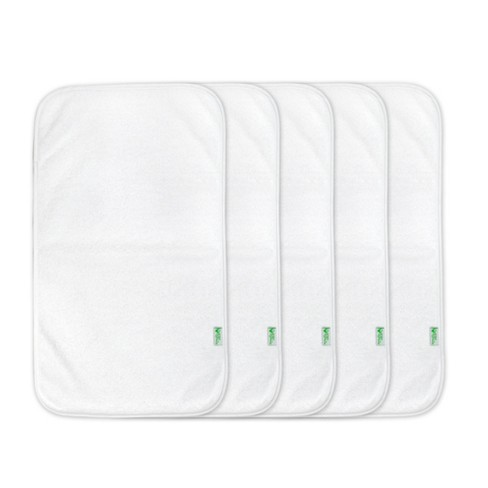 green sprouts Stay-Dry Burp Pads 5pk White - image 1 of 2