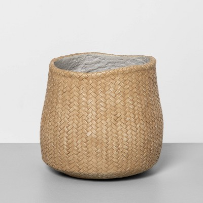 "9"" Woven Concrete Planter Beige - Hearth & Hand™ with Magnolia"