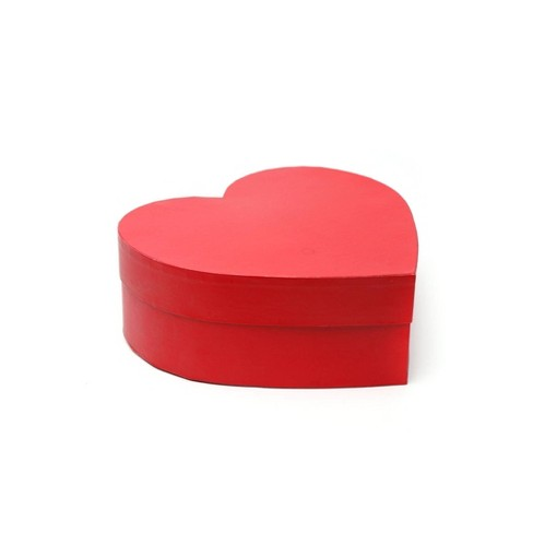 Small Heart Shaped Gift Box Red Spritz Target