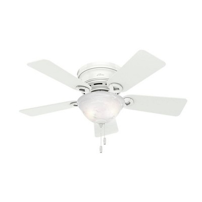 "42"" Conroy Low Profile Ceiling Fan  White (Includes Energy Efficient Light) - Hunter"