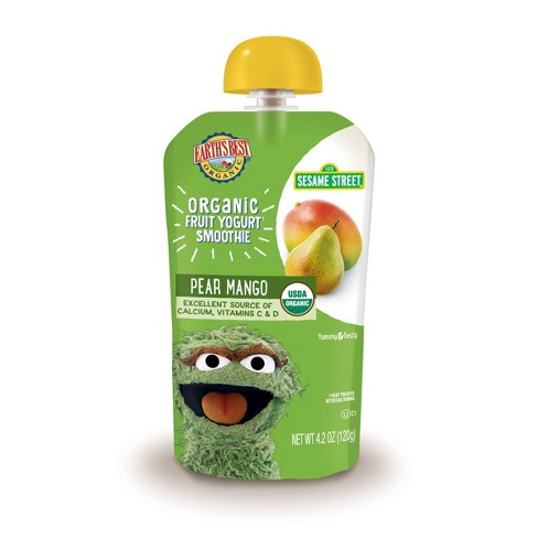 Earth's Best Organic Pear Mango Fruit Yogurt Smoothie 4.2oz - image 1 of 3