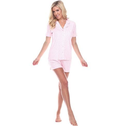 Women's Short Sleeve Pajama Set - White Mark - image 1 of 3