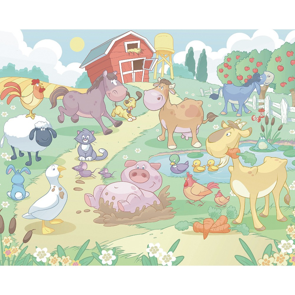 Image of Walltastic Baby Fun on the Farm Mural, Multi-Colored