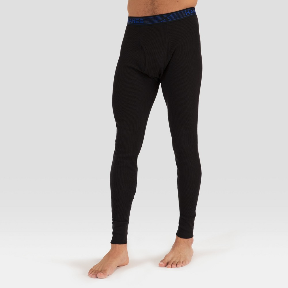 Image of Hanes Premium Men's Xtemp with Fresh IQ Thermal Bottom - Black 2XL, Men's