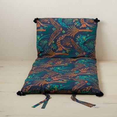 Printed Lounge Pillow Jungle Print Indigo - Opalhouse™ designed with Jungalow™