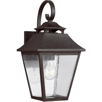 """Feiss Galena 16"""" High Sable Steel Outdoor Wall Light"""