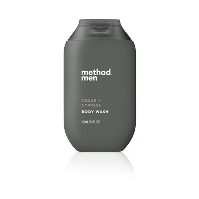 Method Cedar And Cypress Men's Trial Size Body Wash   3.4oz by Method
