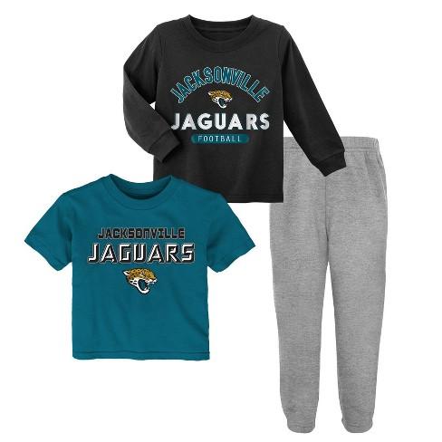 NFL Jacksonville Jaguars Toddler Boys' Gametime Fun Shirt & Pants Set 3pk - image 1 of 4