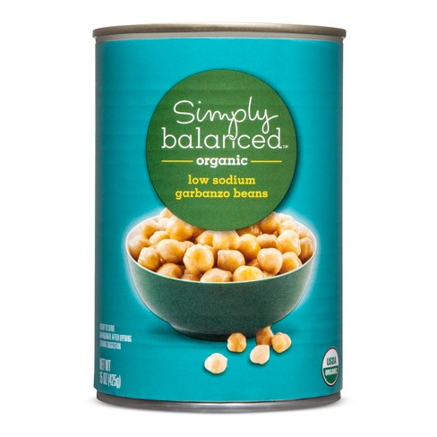Organic Garbanzo Beans Low Sodium - 15oz - Simply Balanced™ - image 1 of 1