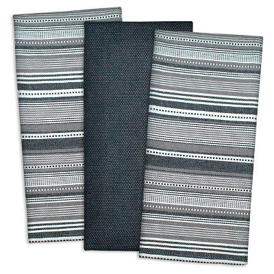 Urban Stripe Dishtowels Set Of 3 - Design Imports