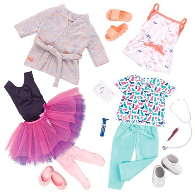 "Our Generation 3pk Regular Outfits For 18"" Dolls   Work, Dance And Sleep by Our Generation"