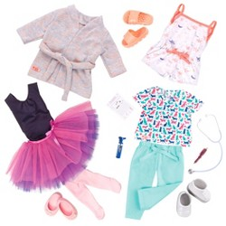 "Our Generation 3pk Regular Outfits for 18"" Dolls - Work, Dance and Sleep"