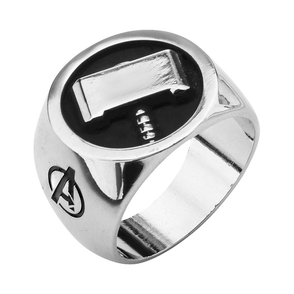 Men 3 s Marvel Avengers Stainless Steel Thor 3 s Hammer Ring