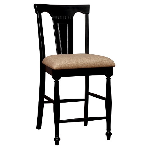 Sun Pine Martha Country Counter Height Chair Cherry And Black Set Of 2 Target