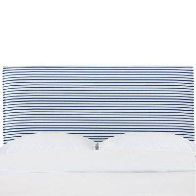 French Seam Slipcover Headboard in Nautical Stripe Navy - Cloth & Company