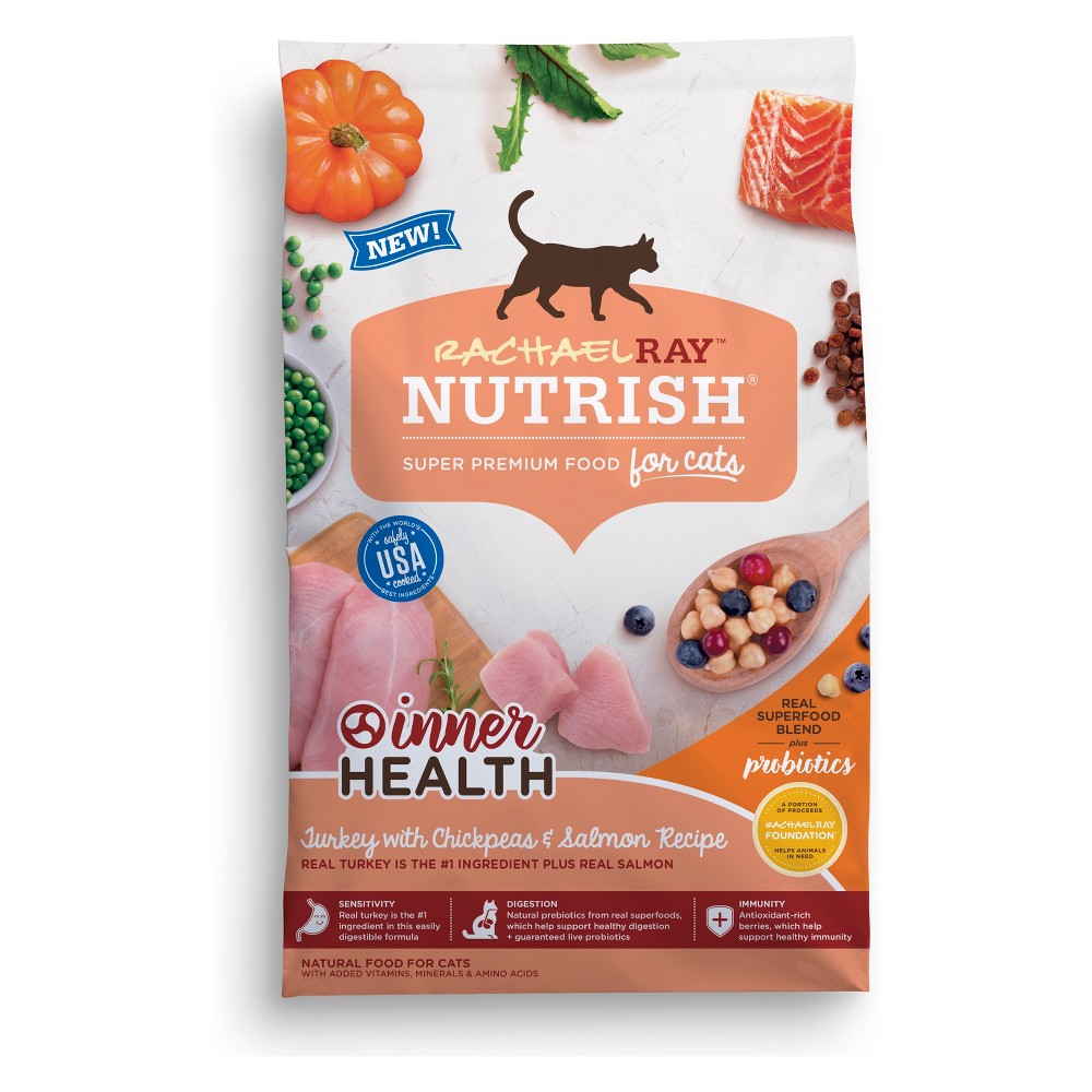 Rachael Ray Nutrish - Inner Health Natural - Dry Cat Food with Turkey, Chickpeas & Salmon - 6lb