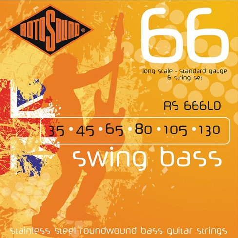 Rotosound RS666LD 6-String Roundwound Bass Strings - image 1 of 2