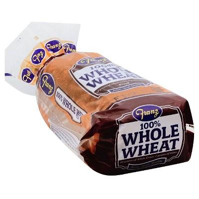 Franz 100^ Whole Wheat Sandwich Bread - 24oz