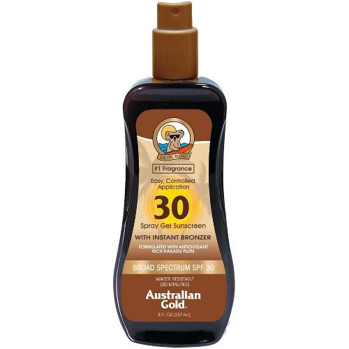 Australian Gold Spray Gel with Instant Bronzer - SPF 30 - 8oz