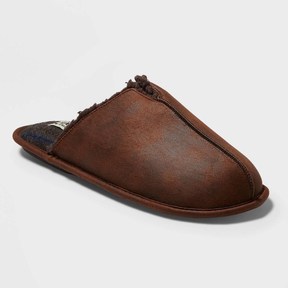 Image of Men's dluxe by dearfoams Fenton Slide Slippers - Brown S(7-8), Size: Small (7-8)