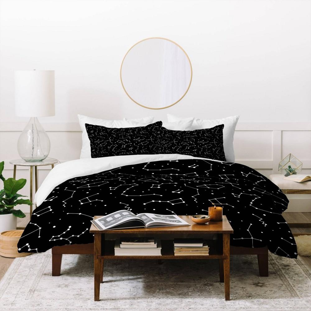 King Avenie Constellations Duvet Set Black Deny Designs