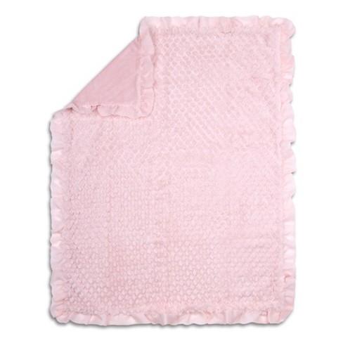 The Peanutshell Arianna Plush and Satin Blanket - image 1 of 2