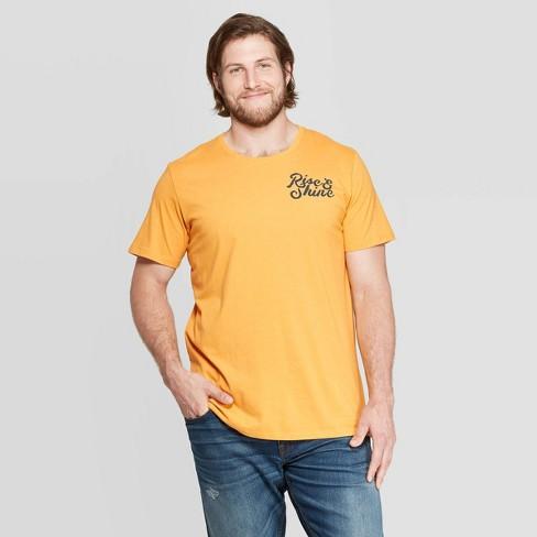 Men's Big & Tall Short Sleeve Rise & Shine Graphic T-Shirt - Goodfellow & Co™ Squash - image 1 of 3