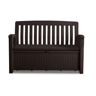 60gal Patio Storage Bench Deck Box Brown - Keter