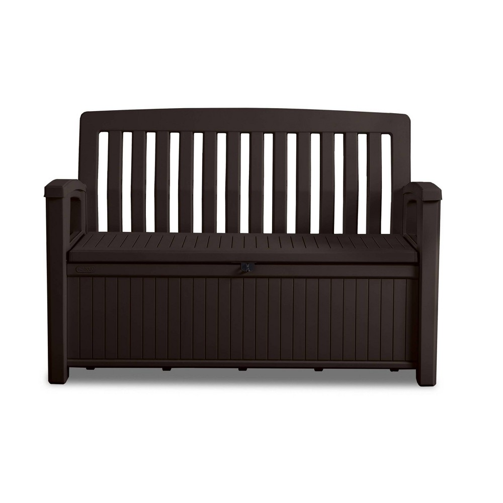 Image of 60gal Patio Storage Bench Deck Box Brown - Keter