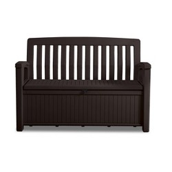 60gal Patio Storage Bench Deck Box Brown - Keter