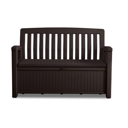 Swell 60Gal Patio Storage Bench Deck Box Brown Keter Forskolin Free Trial Chair Design Images Forskolin Free Trialorg