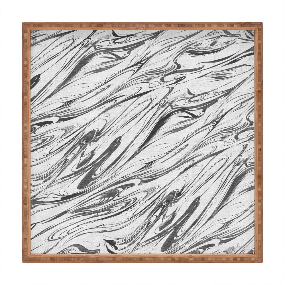 Pattern State Marble Silver Tray (16) - Deny Designs, Gray