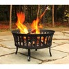 "25"" Slat Cauldron Fire Pit - Black - Threshold™ - image 3 of 4"