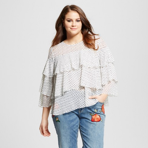 3330f2eaeb5adc Women's Plus Size Layered Ruffle Blouse - Who What Wear ™ : Target
