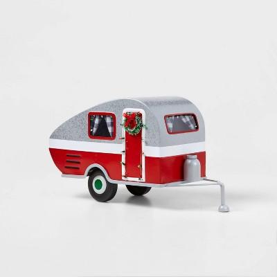Large Metal Camper Decorative Figurine Red - Wondershop™