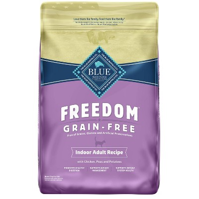 Blue Buffalo Freedom Grain Free Indoor with Chicken, Peas & Potatoes Adult Premium Dry Cat Food