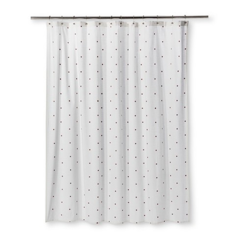 Embroidered Mini Floral Shower Curtain Sour Cream Threshold Target